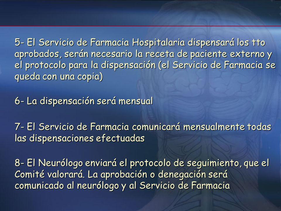 CircuitoCircuito 1- Neurólogo solicitará el tto para los pacientes con EMRR que reúnan los criterios aprobados por el Comité 2- El original del protoc