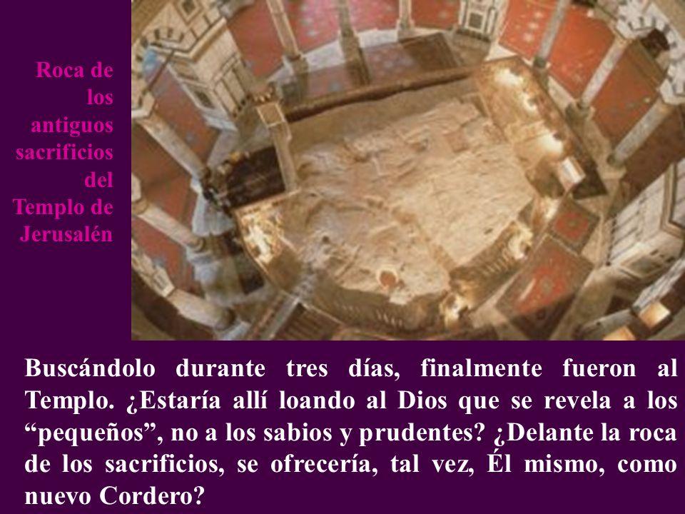 Buscándolo durante tres días, finalmente fueron al Templo. ¿Estaría allí loando al Dios que se revela a los pequeños, no a los sabios y prudentes? ¿De
