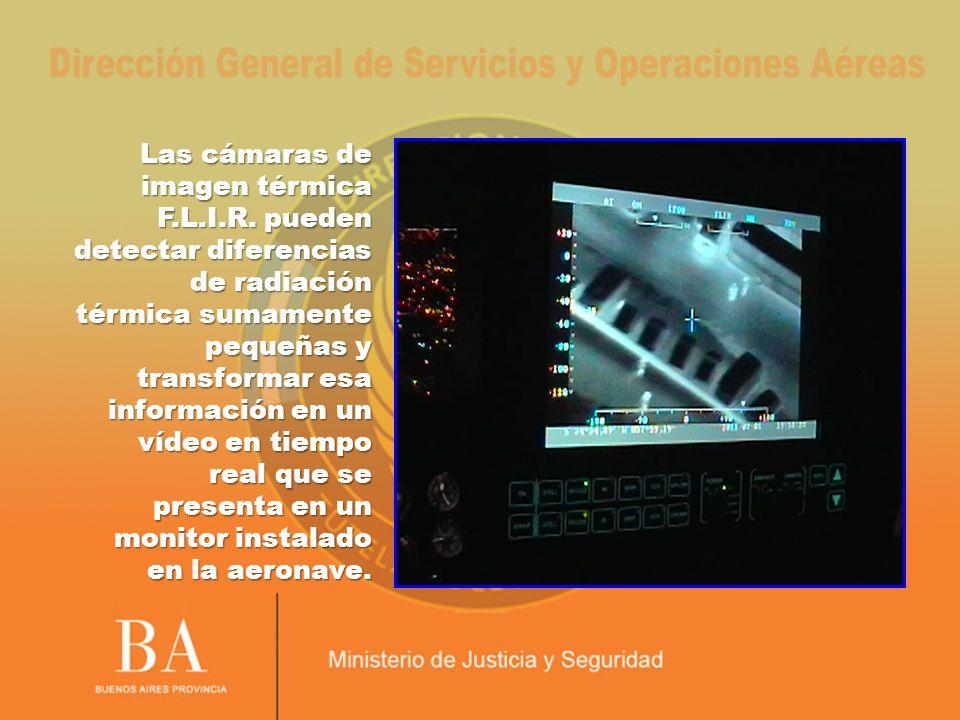Las cámaras de imagen térmica F.L.I.R. pueden detectar diferencias de radiación térmica sumamente pequeñas y transformar esa información en un vídeo e