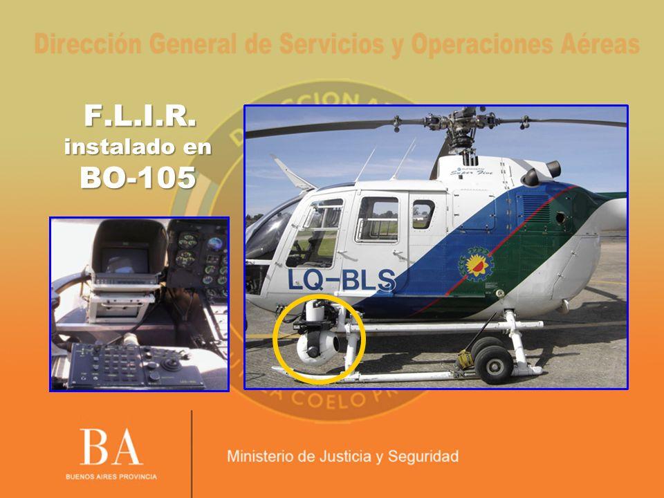 F.L.I.R. instalado en BO-105 F.L.I.R. instalado en BO-105
