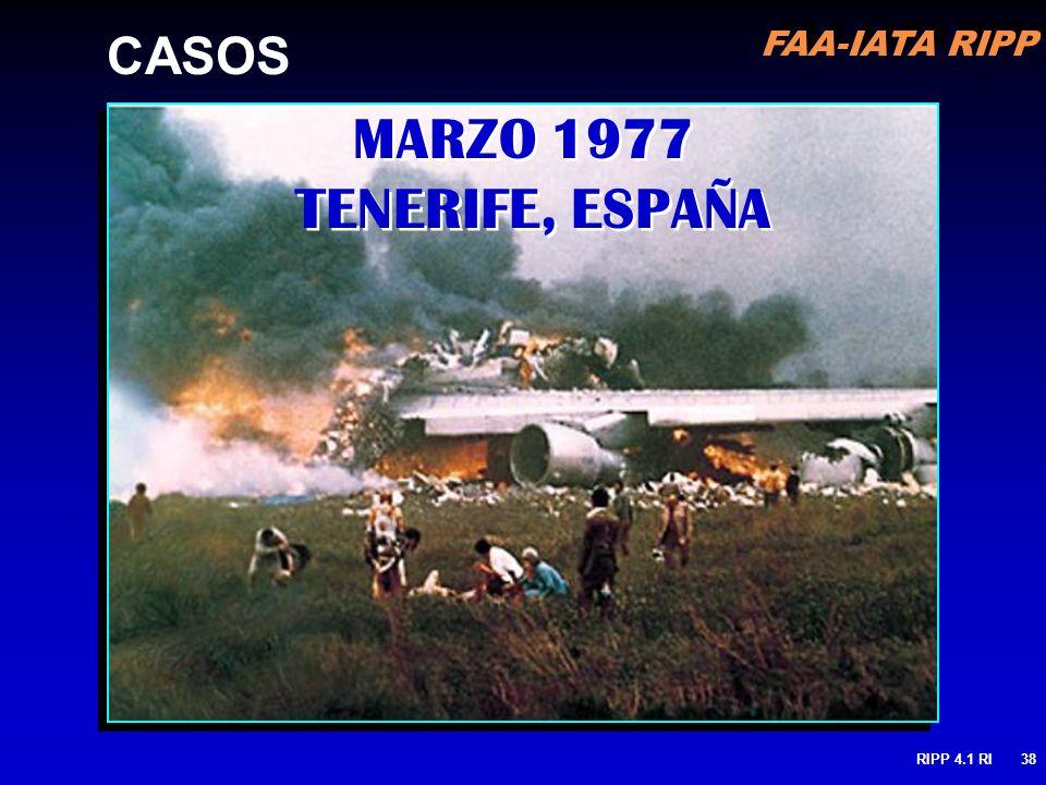 FAA-IATA RIPP RIPP 4.1 RI38 MARZO 1977 TENERIFE, ESPAÑA CASOS