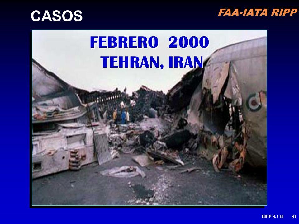 FAA-IATA RIPP RIPP 4.1 RI41 FEBRERO 2000 TEHRAN, IRAN CASOS