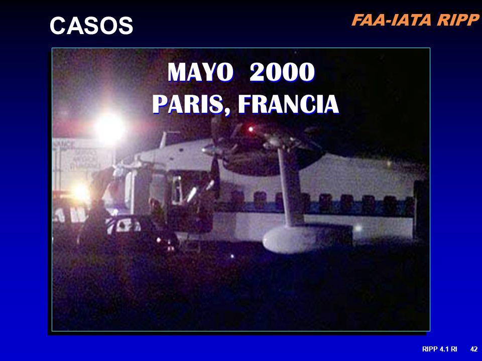 FAA-IATA RIPP RIPP 4.1 RI42 MAYO 2000 PARIS, FRANCIA CASOS