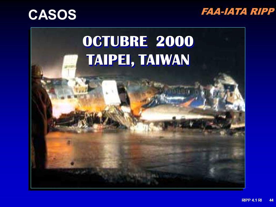FAA-IATA RIPP RIPP 4.1 RI44 OCTUBRE 2000 TAIPEI, TAIWAN CASOS