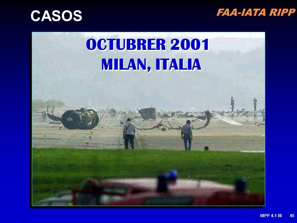 FAA-IATA RIPP RIPP 4.1 RI45 OCTUBRER 2001 MILAN, ITALIA CASOS
