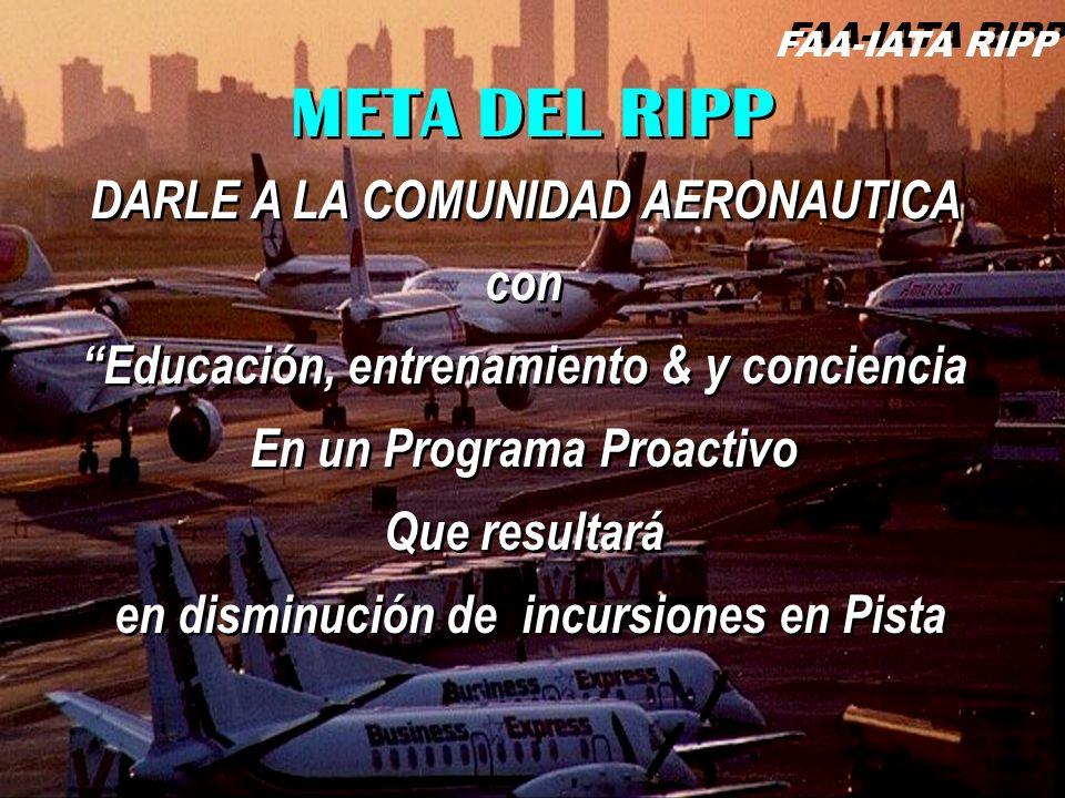 FAA-IATA RIPP RIPP 4.1 RI61 DARLE A LA COMUNIDAD AERONAUTICA con Educación, entrenamiento & y conciencia En un Programa Proactivo Que resultará en dis