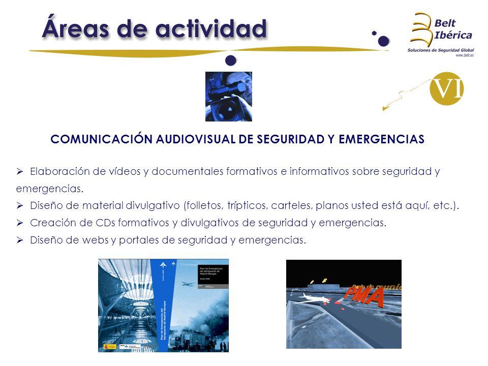 COMUNICACIÓN AUDIOVISUAL DE SEGURIDAD Y EMERGENCIAS Elaboración de vídeos y documentales formativos e informativos sobre seguridad y emergencias. Dise