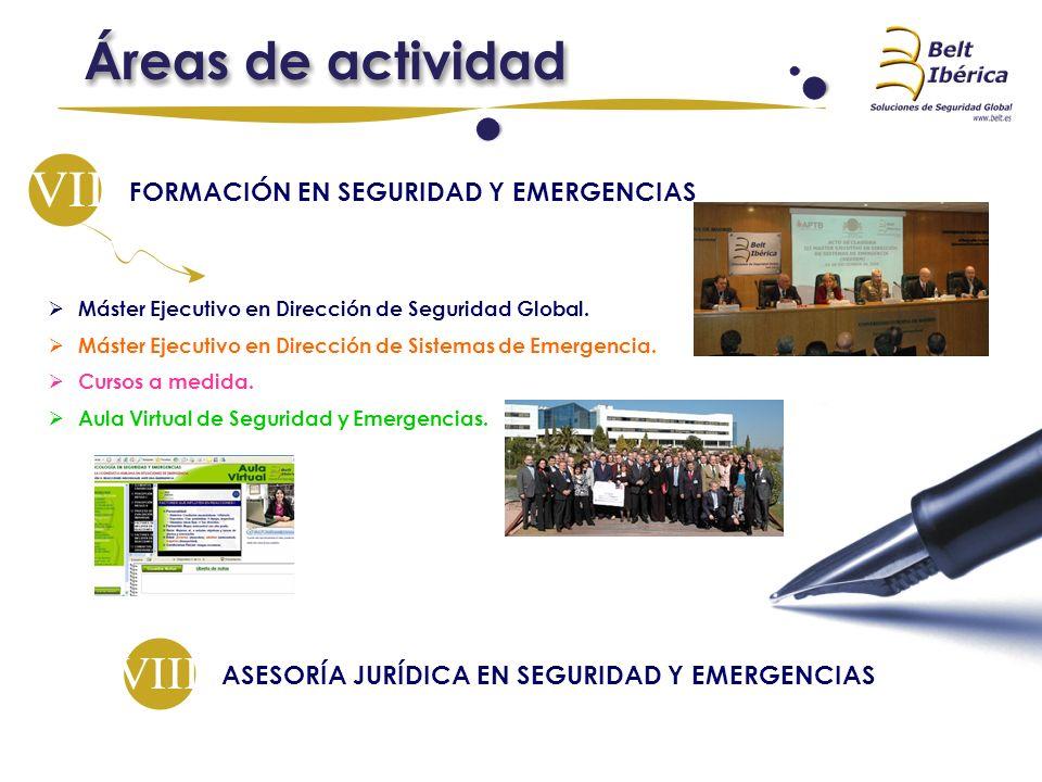 FORMACIÓN EN SEGURIDAD Y EMERGENCIAS Máster Ejecutivo en Dirección de Seguridad Global. Máster Ejecutivo en Dirección de Sistemas de Emergencia. Curso