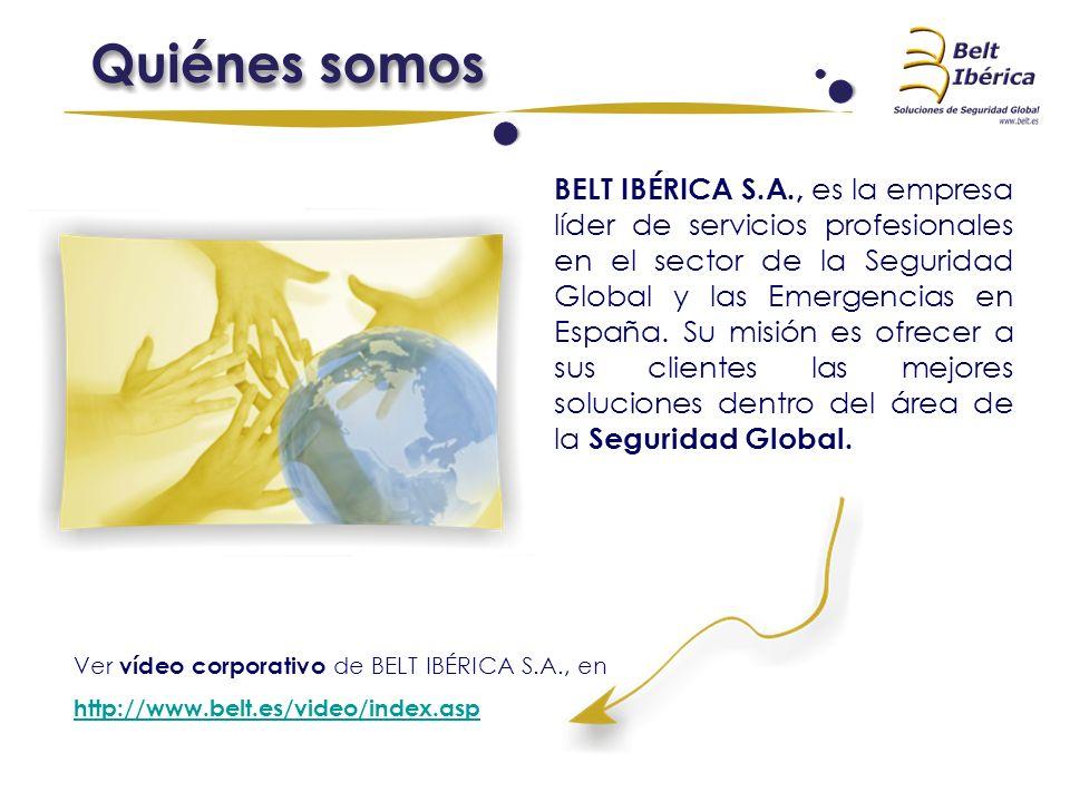 BELT IBÉRICA S.A., es la empresa líder de servicios profesionales en el sector de la Seguridad Global y las Emergencias en España. Su misión es ofrece