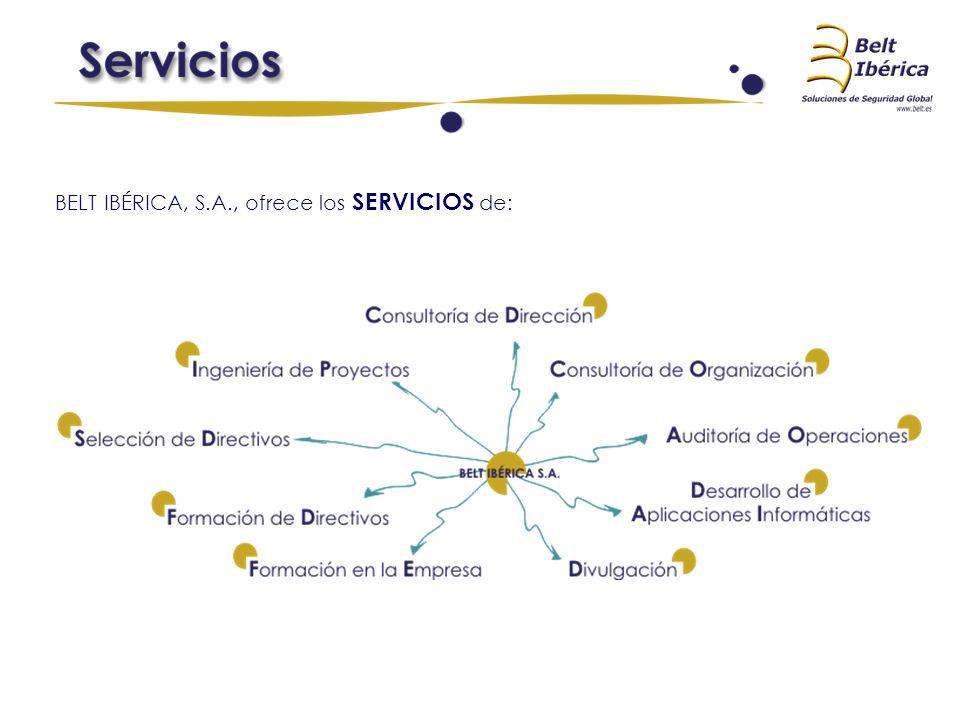 BELT IBÉRICA, S.A., ofrece los SERVICIOS de:
