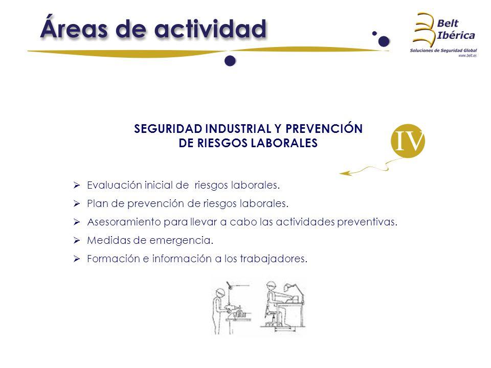 SEGURIDAD INDUSTRIAL Y PREVENCIÓN DE RIESGOS LABORALES Evaluación inicial de riesgos laborales. Plan de prevención de riesgos laborales. Asesoramiento
