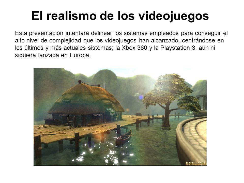 El realismo de los videojuegos Esta presentación intentará delinear los sistemas empleados para conseguir el alto nivel de complejidad que los videoju