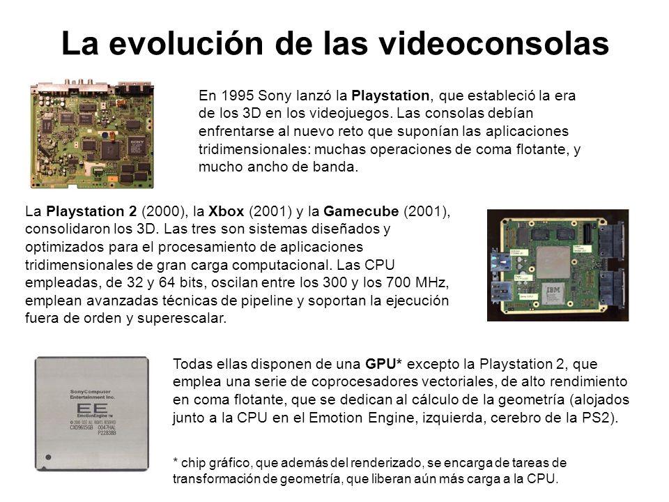 La evolución de las videoconsolas En 1995 Sony lanzó la Playstation, que estableció la era de los 3D en los videojuegos. Las consolas debían enfrentar