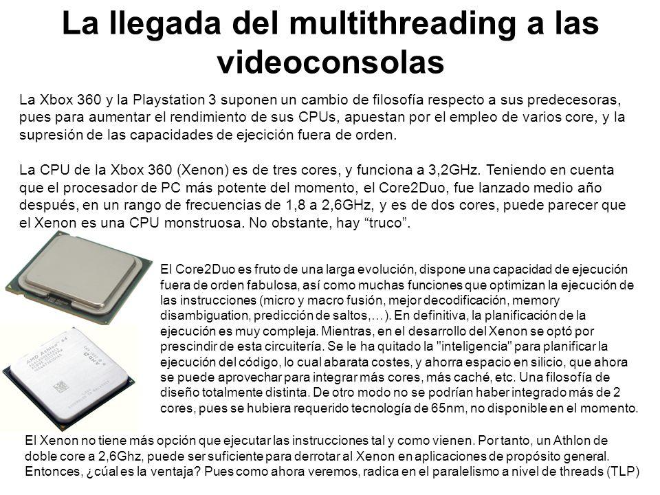La Xbox 360 y la Playstation 3 suponen un cambio de filosofía respecto a sus predecesoras, pues para aumentar el rendimiento de sus CPUs, apuestan por