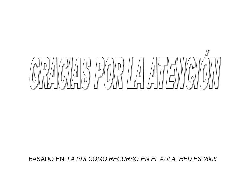 BASADO EN: LA PDI COMO RECURSO EN EL AULA. RED.ES 2006