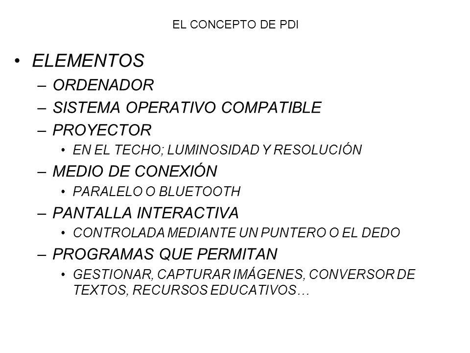 FUNCIONAMIENTO 1- LA PIZARRA TRANSMITE AL ORDENADOR LAS INSTRUCCIONES CORRESPONDIENTES.