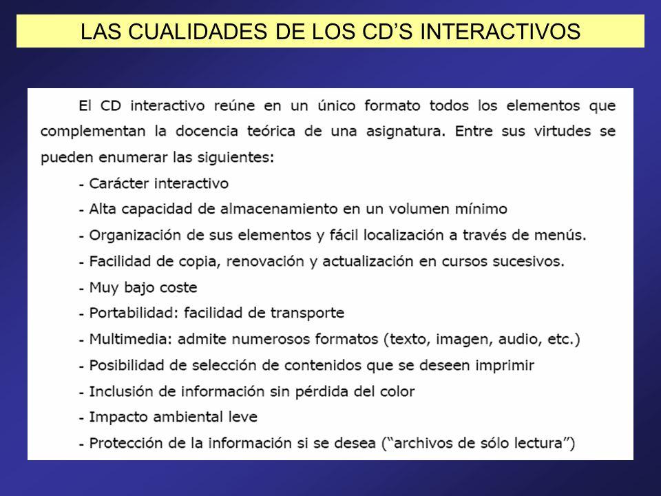 LAS CUALIDADES DE LOS CDS INTERACTIVOS