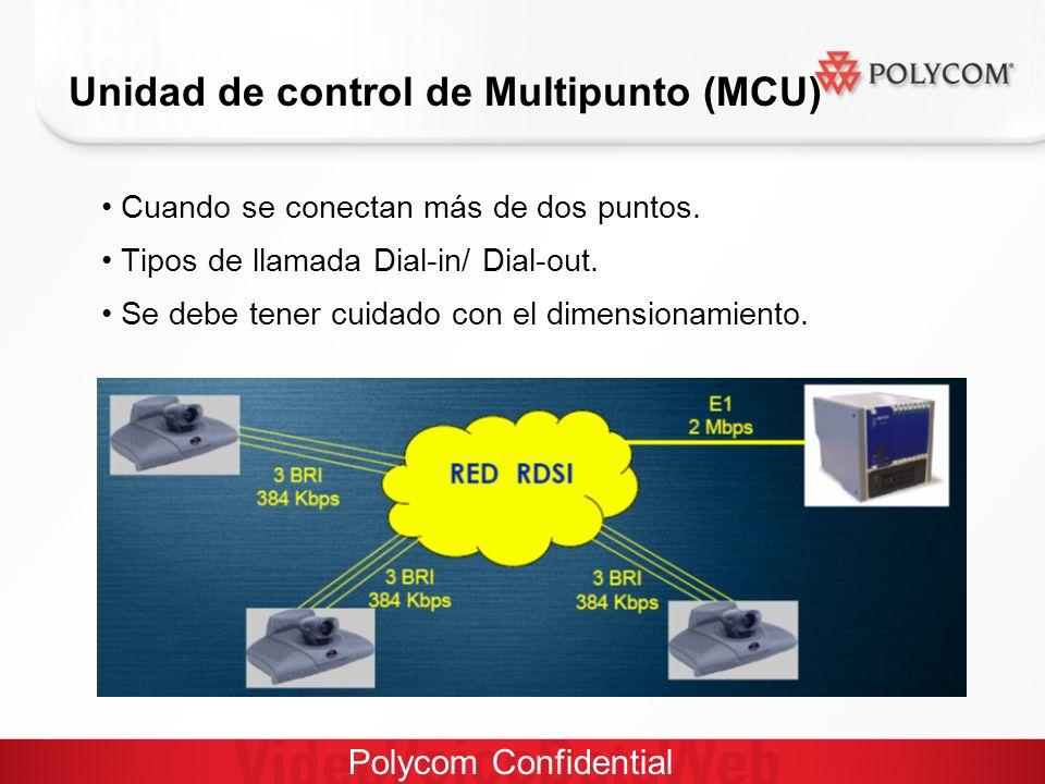 Polycom Confidential Unidad de control de Multipunto (MCU) Cuando se conectan más de dos puntos.