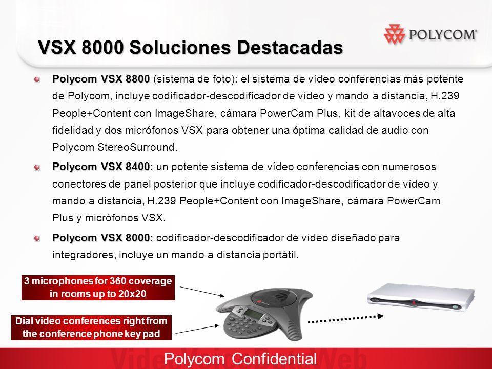 Polycom Confidential VSX 8000 Soluciones Destacadas Polycom VSX 8800.