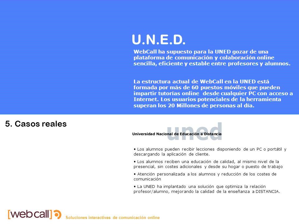 Soluciones interactivas de comunicación online U.N.E.D.
