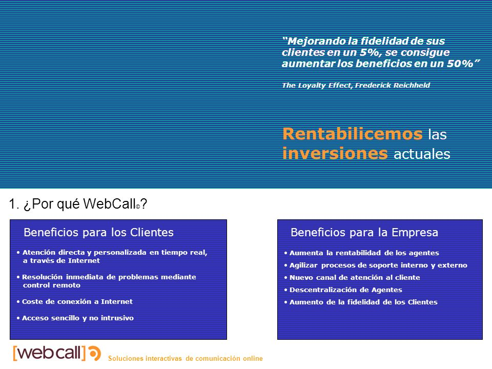 Soluciones interactivas de comunicación online Características 4.