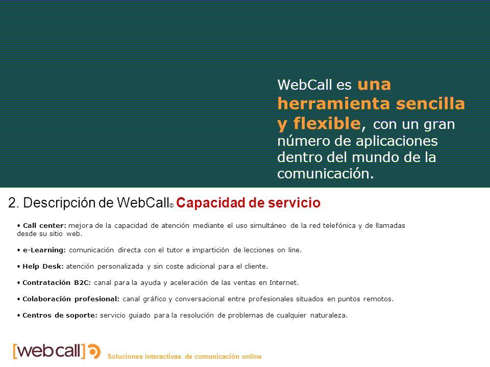 Soluciones interactivas de comunicación online Capacidad 2.