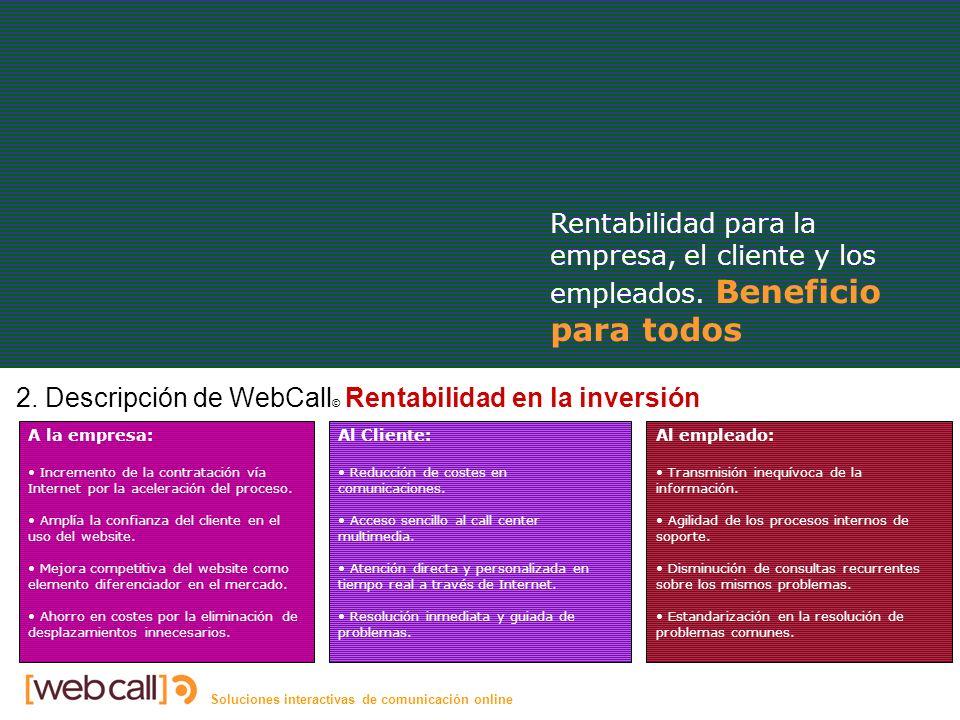 Soluciones interactivas de comunicación online Rentabilidad 2.