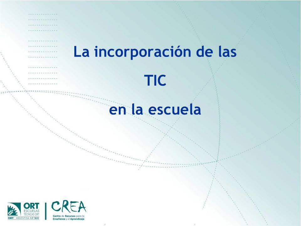 La incorporación de las TIC en la escuela