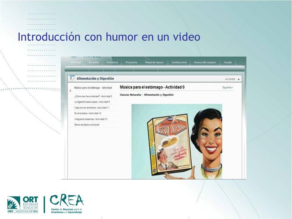 Introducción con humor en un video