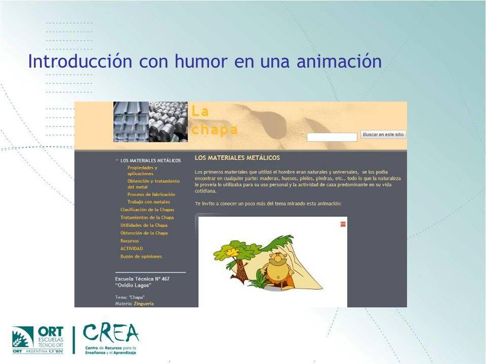 Introducción con humor en una animación