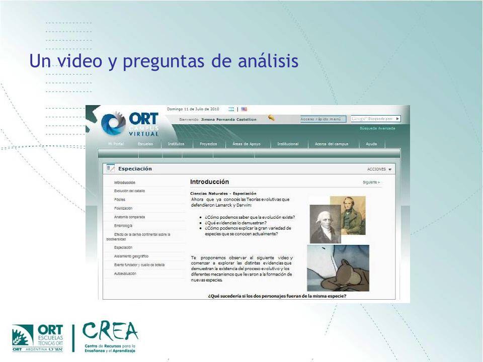 Un video y preguntas de análisis