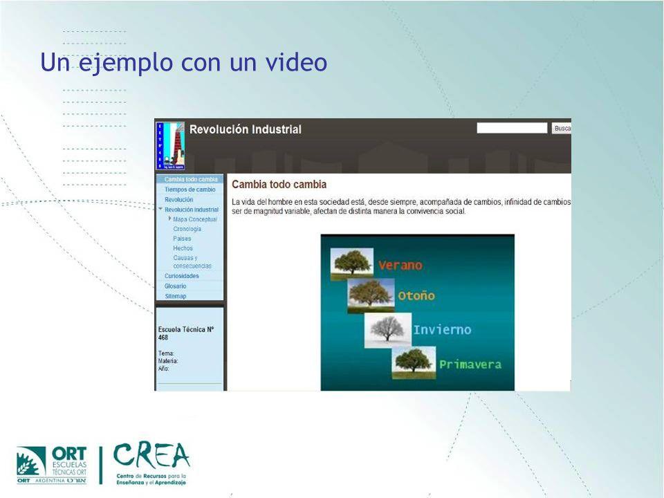 Un ejemplo con un video