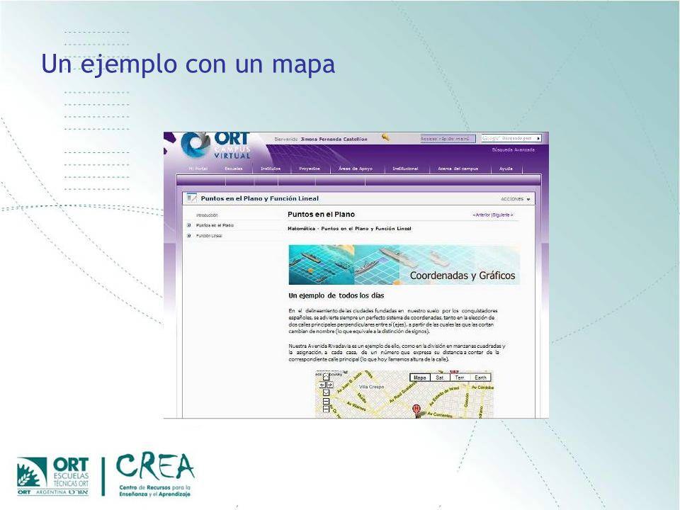 Un ejemplo con un mapa