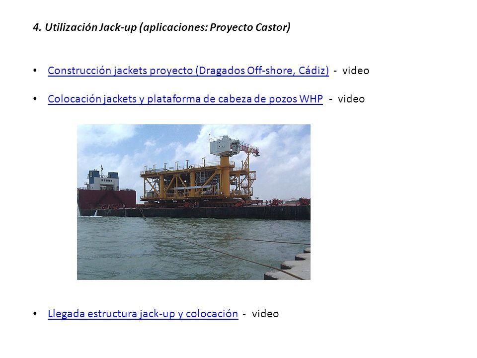 4. Utilización Jack-up (aplicaciones: Proyecto Castor) Construcción jackets proyecto (Dragados Off-shore, Cádiz) - video Construcción jackets proyecto