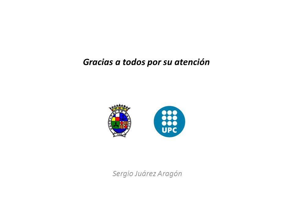 Gracias a todos por su atención Sergio Juárez Aragón