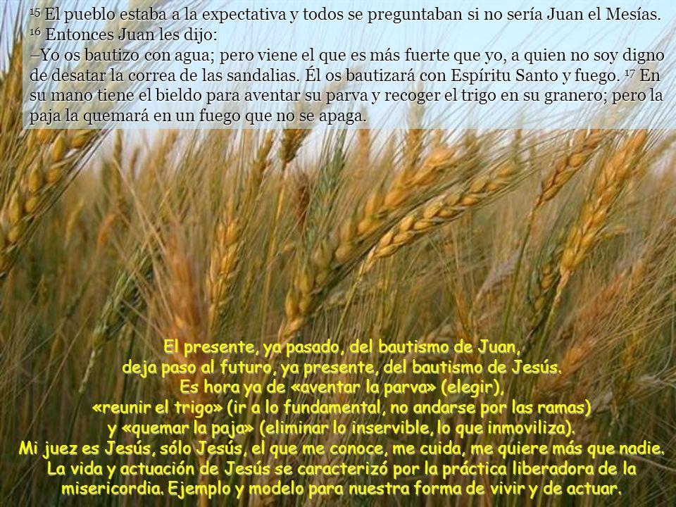 15 El pueblo estaba a la expectativa y todos se preguntaban si no sería Juan el Mesías.