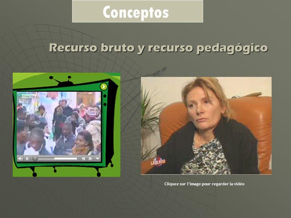 Recurso bruto y recurso pedagógico Cliquez sur limage pour regarder la vidéo