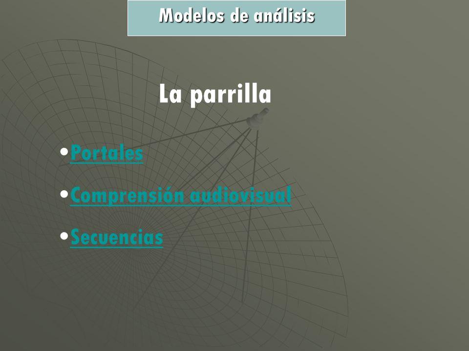 La parrilla Portales Comprensión audiovisual Secuencias Modelos de análisis