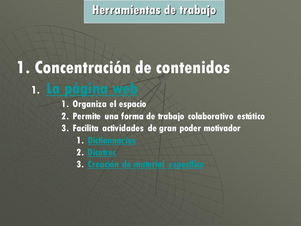 1. Concentración de contenidos 1.