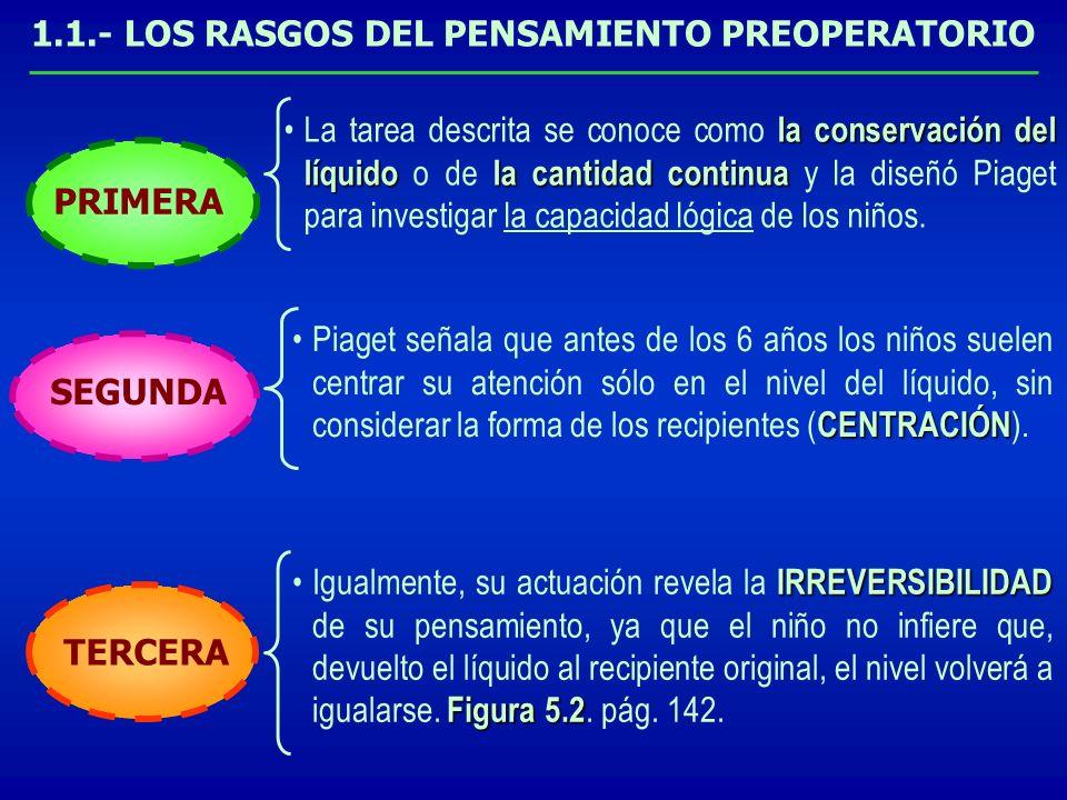 la conservación del líquidola cantidad continuaLa tarea descrita se conoce como la conservación del líquido o de la cantidad continua y la diseñó Piag