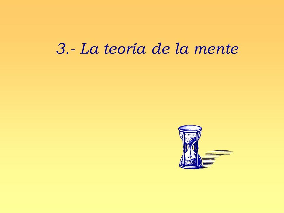 3.- La teoría de la mente