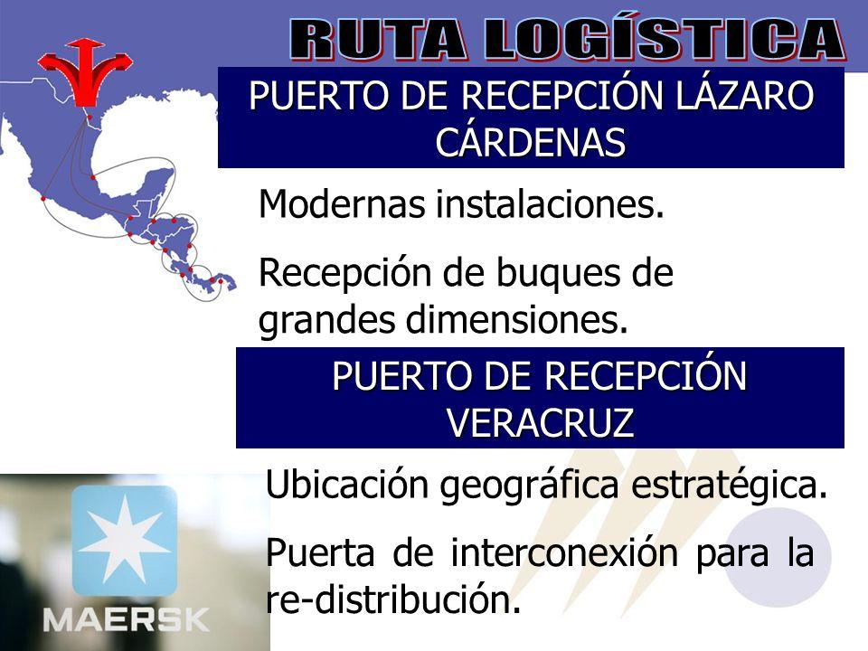 PUERTO DE RECEPCIÓN LÁZARO CÁRDENAS Modernas instalaciones.