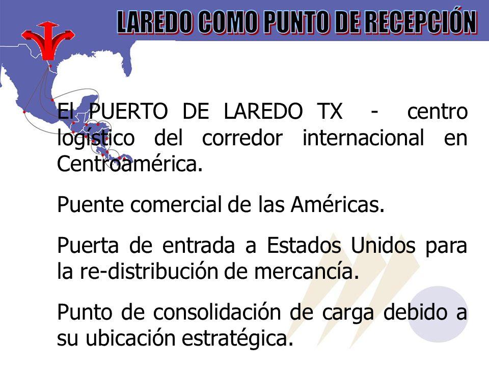 El PUERTO DE LAREDO TX - centro logístico del corredor internacional en Centroamérica.