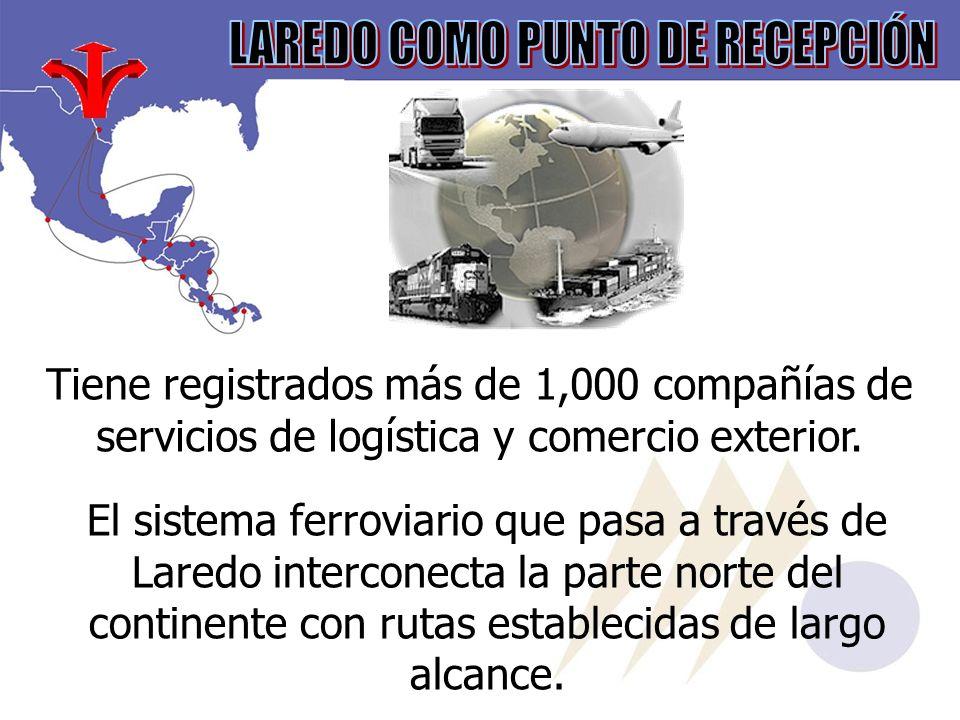 Tiene registrados más de 1,000 compañías de servicios de logística y comercio exterior.