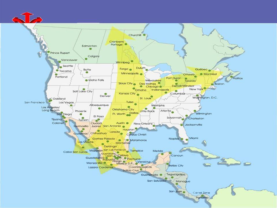 Laredo, TX Kansas City, MO 1,564KM $42,611 2,000,000/M Kansas City, MO Dallas, TX 692KM $40,147 1,279,910 Dallas, TX Tulsa, OK 1,102KM $35,316 966,531/M Tulsa, OK Chicago, IL 2,251KM $38,625 2,853,114 Chicago, IL San Antonio, TX 249KM $36,214 1,351,305 San Antonio, TX Los Angeles, CA 2,271KM $36,687 3,833,995 Los Angeles, CA Distancia Ingreso por hogar Población