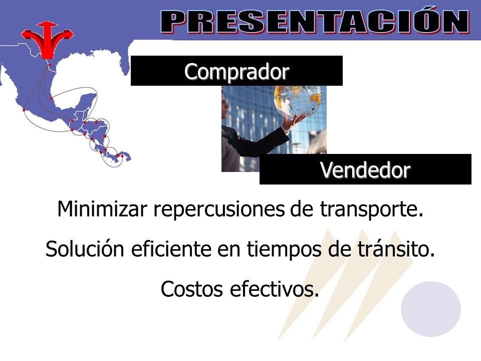 Comprador Vendedor Minimizar repercusiones de transporte.