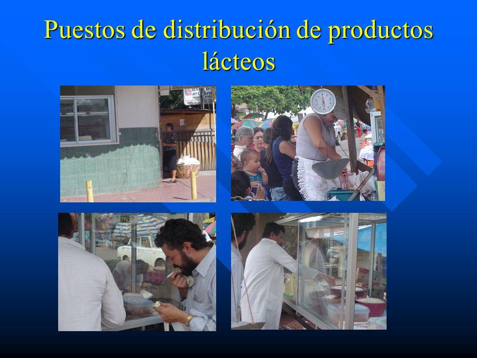 Puestos de distribución de productos lácteos
