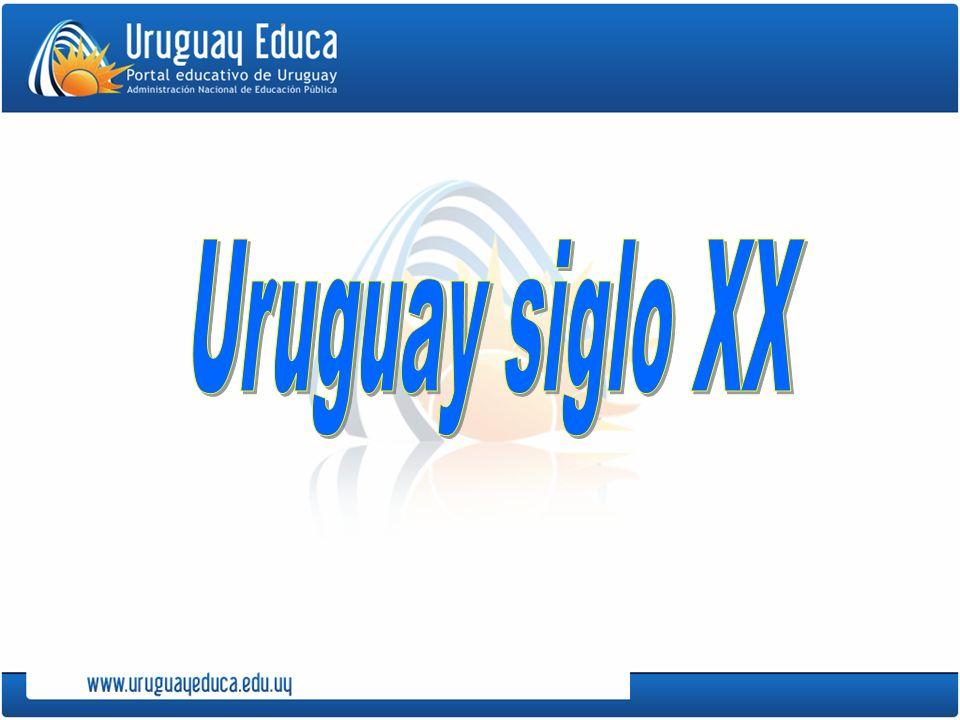 En la historia del Uruguay en el siglo XX se distinguen cuatro etapas: 1.