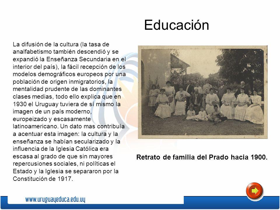 La difusión de la cultura (la tasa de analfabetismo también descendió y se expandió la Enseñanza Secundaria en el interior del país), la fácil recepci
