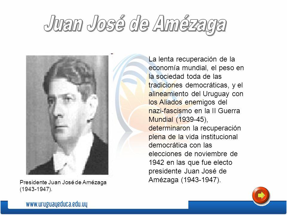 La lenta recuperación de la economía mundial, el peso en la sociedad toda de las tradiciones democráticas, y el alineamiento del Uruguay con los Aliad